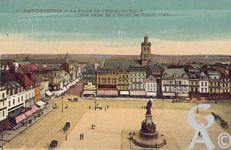La Place de l'Hôtel de Ville dans le passé - Place de l'Hôtel de ville, vue prise de l'Hôtel de Ville.