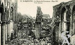 Les Monuments et Edifices en ruines - La Bourse du commerce - Mars 1919