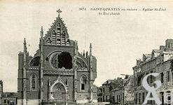 Les Monuments et Edifices en ruines - église Saint Eloi