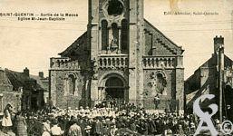 Les églises - Sortie de la Messe, église saint Jean Baptiste.