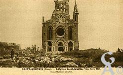 Les Monuments et Edifices en ruines - église Saint Martin