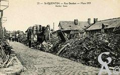 Les rues en ruines - Rue Denfert - Mars 1919