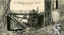 Les rues en ruines - Pont des Glacis - Mars 1919