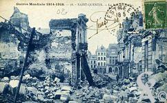 Les rues en ruines - Guerre Mondiale 1914 - 1918 - la Rue des Toiles