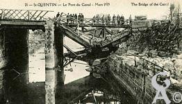 Les Monuments et Edifices en ruines - Le Pont du canal - Mars 1919
