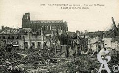 Les rues en ruines - Vue sur le Quartier St Martin