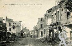 Les rues en ruines - Rue de Cambrai