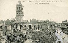 Les rues en ruines - Beffroi et la rue de la Sellerie
