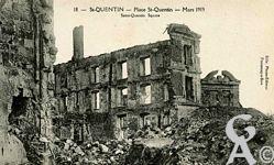 Les rues en ruines - La Place - Mars 1919