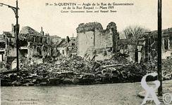 Les rues en ruines - Angle de la rue du Gouvernement et de la rue Raspail - Mars 1919