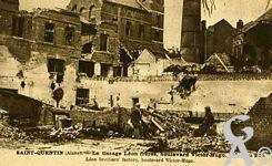 Les rues en ruines - Le tissage Léon Frères, Boulevard Victor-Hugo.