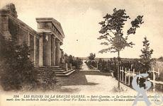 Le cimetière Allemand - Les ruines de la Grande Guerre. Le cimetière des soldats allemands morts dans les combats de saint-Quentin.
