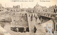 Les Monuments et Edifices en ruines - Le Pont détruit - Avril 1919.