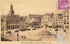 La Place de l'Hôtel de Ville dans le passé - Place et l'Hôtel de Ville.