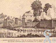 Les documents anciens - Vue de la  porte d'Isle par laquelle est entré le cortège des gardes nationales pour la Fédération du 14 juillet.
