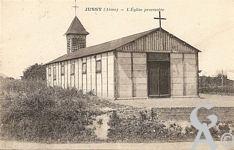La reconstruction de l'église - L'église provisoire