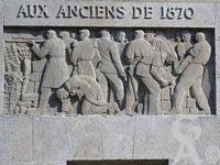 Les monuments de St Quentin - Monument aux Morts de 1870