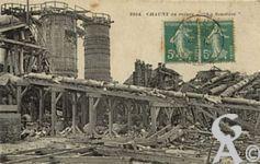 Chauny dans la Guerre - Ruines de la Soudière