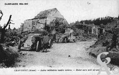 Pendant la Guerre - Campagne 1914-1917 - Autos militaires contre avions.