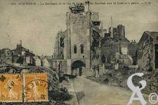 La Basilique en ruines - La basilique et la rue Saint André