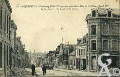 Les rues en ruines - Faubourg d'Isle, perspective prise de la rue de La fère en avril 1919