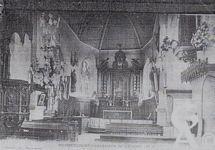 L'église - Vue de l'intérieure de l'Église Saint-Lambert, avant la guerre.