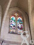 L'église Notre-Dame de Lourdes - Vitrail du triforium
