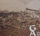 Photos pendant la Guerre - Tergnier, la gare incendiée