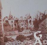 Photos pendant la Guerre - Verneuil (Aisne) - le château bombardé