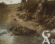 Photos pendant la Guerre - Prise de Courcelles (Oise) - En 1918 aprés la rafale.
