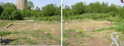 A l'assaut du château-fort - Les ruines de la collégiale Saint-Gervais Saint-Protais