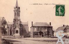 Le passé - L'église et la mairie