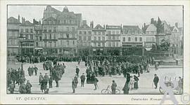 La Place de l'Hôtel de Ville dans le passé - Concert allemand