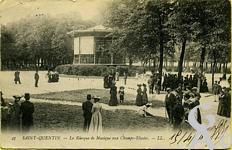 Les Champs Elysées dans le passé - Le kiosque