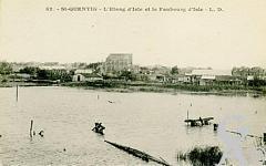 Edifices divers dans le passé - L'étang d'Isle et le faubourg