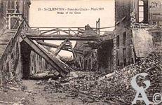 Les rues en ruines - Rue des Glacis en mars 1919