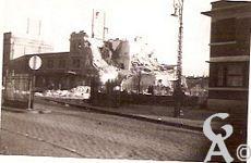 Les rues en ruines