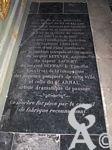 L'église Notre-Dame de Lourdes - Plaque commémorative